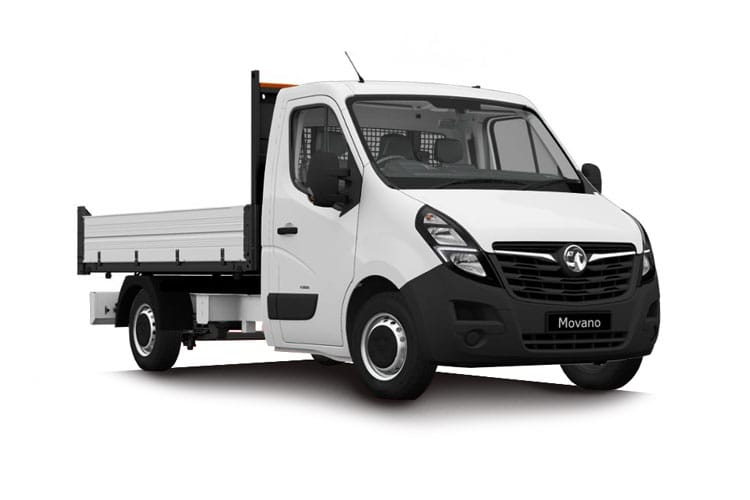 Vauxhall Movano HGV R45DRW L4 2.3 CDTi BiTurbo DRW 165PS  Dropside Manual [Start Stop] front view