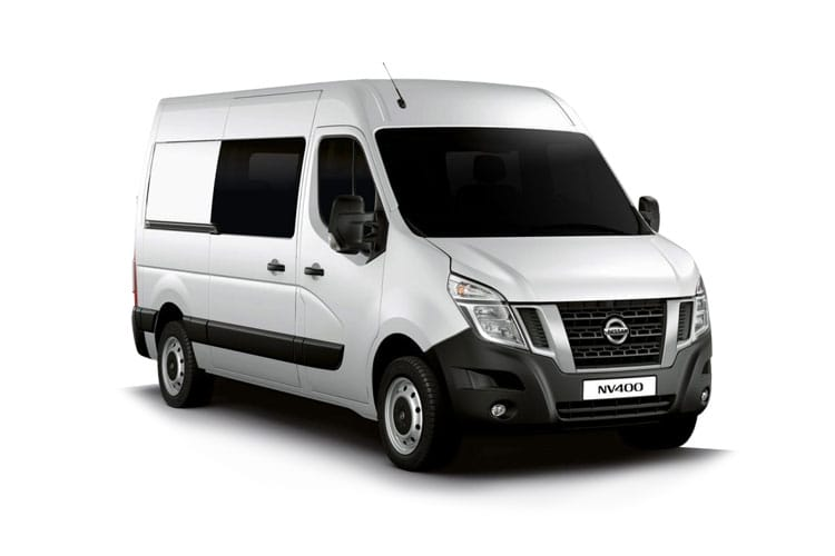 Nissan NV400 L3 35 FWD 2.3 dCi FWD 150PS Tekna Crew Van Medium Roof Auto [Start Stop] front view